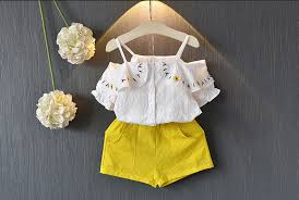 Details About Us Fashion Toddler Kid Baby Girl Short Sleeve Tops Shorts Pants Clothes 2pcs Set