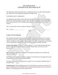 Business Plan Document Template Business Plan Template Customize And Print Your Form