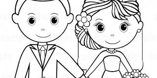 Free Printable Wedding Coloring Book For Kids Wedding Inspiration