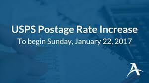 Usps Rate Increase Chart Usps Announces 2017 Postage Rate Increase