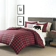 red plaid duvet cover black red plaid comforter twin set cabin themed bedding checked red green plaid duvet covers