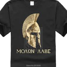 Us 8 79 12 Off 2017 Classical Black Molon Labe Spartan Helmet Warrior Printed Mens T Shirt Cool Tops Hipster Style T Shirt In T Shirts From Mens