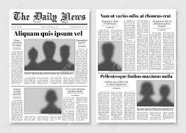 Newspaper Editorial Template Paper Tabloid Newspaper Vector Layout Editorial News Template