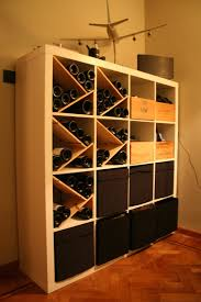 How To Combine Ikea Items To Build Your Own Wine Rack Expedit bookcase.