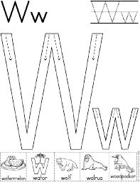 3037f2cda4acf795a3af014a91ee5004 alphabet letter w worksheet standard block font preschool on teaching alphabet letters to pre k children printable