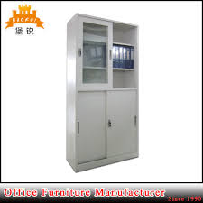 china fas 029 sliding glass door bookcase office metal filing cabinet china cabinet storage cabinet