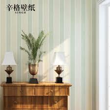 get ations singh american country pure paper wallpaper vertical stripes wallpaper bedroom living room tv background wall green