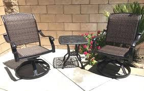 patio bistro sets patio bistro set swivel rocker chairs end table 3 piece outdoor cast aluminum patio bistro sets