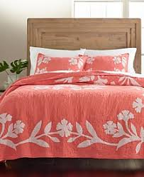 Martha Stewart Collection Quilts and Bedspreads - Macy's & Martha Stewart Collection Hibiscus Medallion Cotton Quilt and Sham  Collection Adamdwight.com