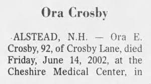 Crosby, Ora E. - obit part 1 - Newspapers.com
