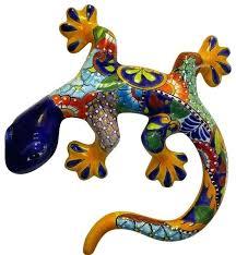 gecko mexican ceramic wall art talavera  on talavera style wall art with mexican ceramic wall art talavera sun wind flames palletcover