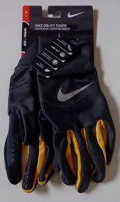 Nike Mens Dri Fit Tempo Run Gloves Anthracite Laser Orange