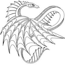 Mythical Dragon Coloring Pages For Kindergarten Animals Adults Stock
