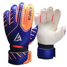 Athpik Kids Youth Soccer Goalkeeper Gloves Junior Indoor Outdoor Goalie Gloves With Finger Spines Protection And Strong Grip For Girls And Boys