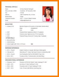 English Resume Template Delectable Cv English Exampleenglish Resume Template Curriculum Vitae Cv
