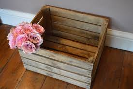 vintage wooden apple crates shabby chic storage