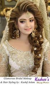 stani hairstyles for s beautiful glamorous bridal makeup and hair styling done by kashif aslam by