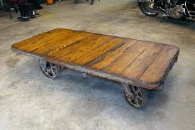 mine cart coffee table factory cart coffee table antique reclaim rustic one of a kind coffee