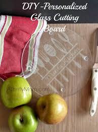 personalized glass cutting board diy