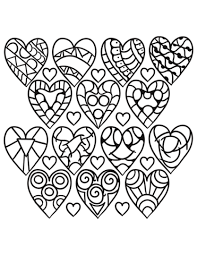 heart design coloring pages. Beautiful Coloring Hearts Pattern Coloring Page And Heart Design Coloring Pages Supercoloringcom