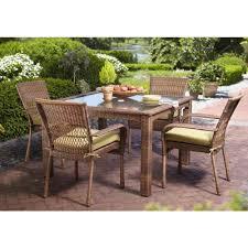 outdoor furniture home depot. Martha Stewart Living Charlottetown Brown 5-Piece All-Weather Wicker Patio Dining Set With Outdoor Furniture Home Depot