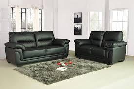 Leather Sofa Set For Living Room 3 2 Seater Sofa Set Living Room Suite Leather Black Foam Seats