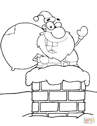 Small Picture Santa Claus in Chimney coloring page Free Printable Coloring Pages