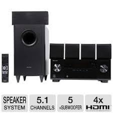 pioneer 5 1 speakers. pioneer htp-071 5.1ch receiver \u0026 speaker package 5 1 speakers