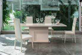 Italian Extendable Dining Table Modern Beige Extendable Dining Table