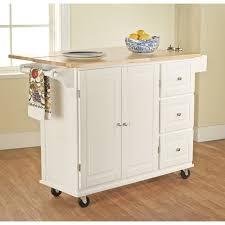 Wood Utility Cabinet Kitchen Storage Cart 3 Drawer Rolling Island Utility Cabinet Wood