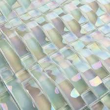 photo 1 of 9 mosaic tiles sheet arch iridescent tile crystal glass wall tile backsplash whole bathroom shower design deco