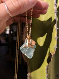 in this nautical themed work we ll be teaching how to wire wrap sea glass into a pendant for a necklace either bring your own sea glass or we provide