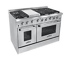 gas kitchen stove. Amazon.com: Thor Kitchen HRG4804U 6 Burner Gas Range With Double Oven: \u0026 Dining Stove