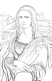 Mona Lisa Printables Famous Art Art Worksheets Art Handouts