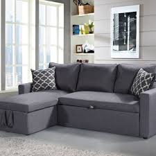 furniture acme 51645 derwyn light brown storage sleeper sectional sofa set within sectional sofa bed