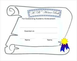 Certificate Of Honor Template Example Honor Roll Certificate Template Download High