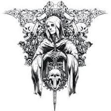 フリーイラスト素材 イラスト 背景 骸骨 髑髏 骨 悪魔 デビル