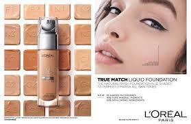 L Oreal True Match Shade Chart Loreal True Match Liquid Foundation 30ml 5 Colors To Choose