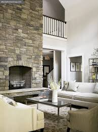 Two Story Fireplace  Country  Living Room  Atlanta Homes Two Story Fireplace