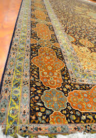 ardabil silk on silk rug brown blue gold medallion rugs traditional carpet oriental carpets museum quality handknotted area rugs accent persian style fine