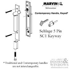 marvin contemporary keyed handle ultimate sliding french door matte black pinit