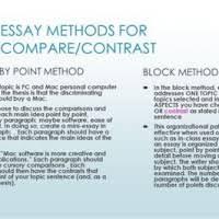 Comparison And Contrast Essay Block Method Sample Mistyhamel