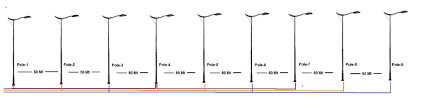 Pole Lights India Calculate Cable Voltage Drop For Street Light Pole