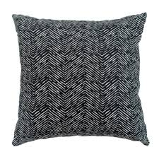 Black Herringbone Pillow