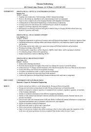 Mechanical Intern Resume Samples Velvet Jobs