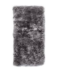 new zealand sheepskin rug rectangle grey