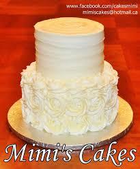 Mimis Cakes Simple And Elegant Buttercream Wedding Cake Almond
