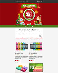 This Holiday And Christmas Email Template Features A