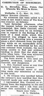 Della Cantrell Retraction - Newspapers.com