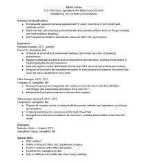 Management Skills Resume Extraordinary Personal Assistant Resume Template Care